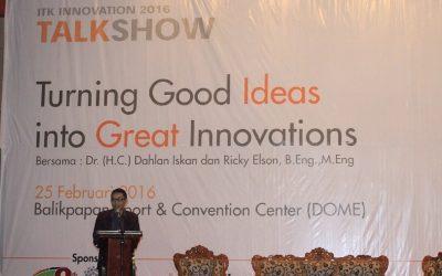 Rektor ITK Membuka ITK Innovation 2016