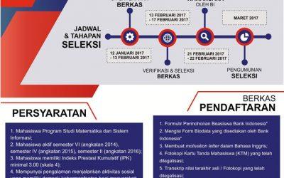BEASISWA BANK INDONESIA TAHUN 2017
