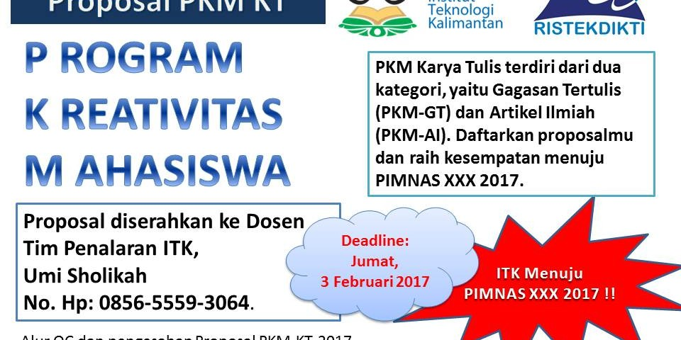 Contoh Proposal Program Kreativitas Mahasiswa Gagasan Tertulis