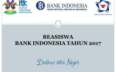 PENGUMUMAN CALON PENERIMA BEASISWA BANK INDONESIA