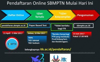 Pendaftaran Online SBMPTN 2017 dimulai Hari Ini