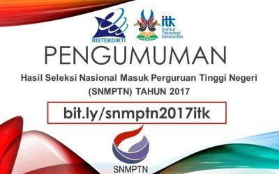 Pengumuman SNMPTN 2017 (Registrasi/Daftar Ulang)