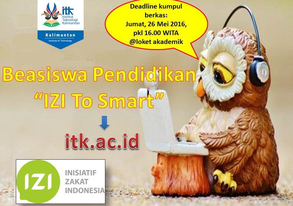 Beasiswa Pendidikan IZI To Smart