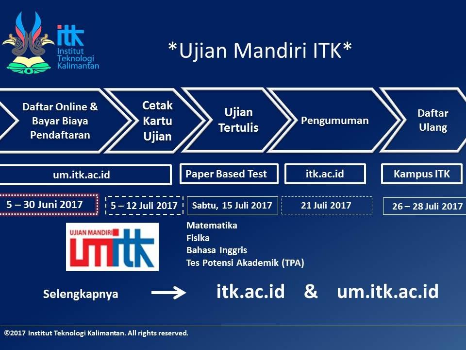 Pengumuman UM ITK 2017