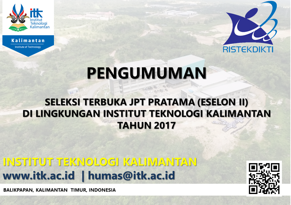 Pengumuman Seleksi JPT Pratama di Lingkungan ITK 2017