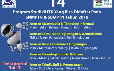 ITK Buka 14 Program Studi Pada SNMPTN-SBMPTN 2018