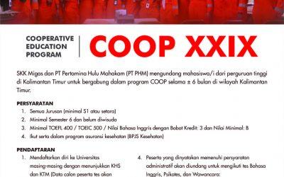 Peluang Magang di Perusahaan Migas COOP XXIX
