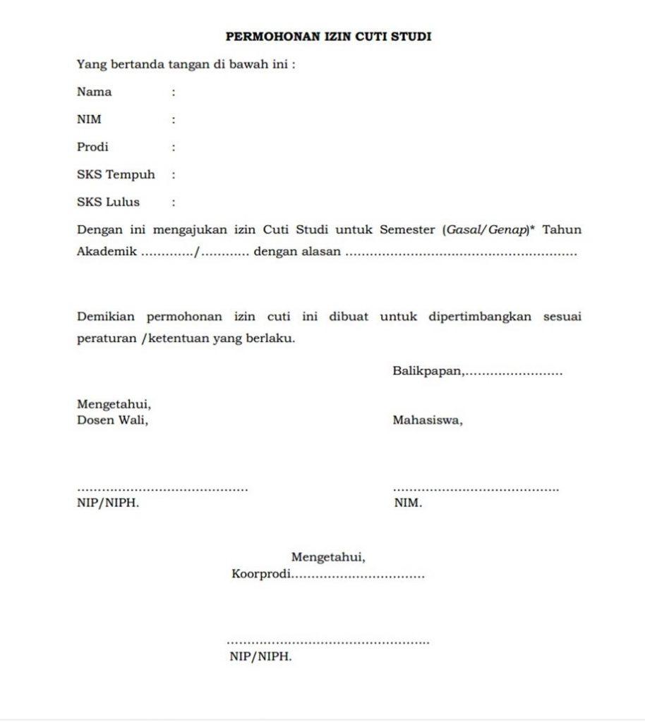Cuti Institut Teknologi Kalimantan