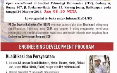 Open Recruitment PT SKS Listrik Kalimantan (Campus Hiring)