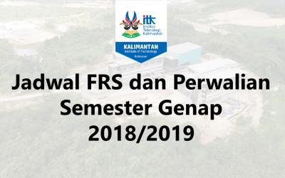 Jadwal FRS dan Perwalian Semester Genap 2019/2019