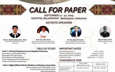 CALL FOR PAPER: International Conference on Industrial Technology (ICONIT) 2019