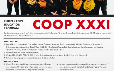 Seleksi Program Cooperative Education (COOP) Angkatan XXXI