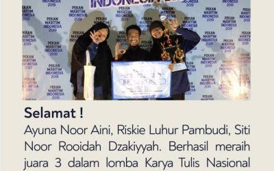 Mahasiswa ITK Juarai LKTI Nasional Pekan Maritim Indonesia oleh UNHAS