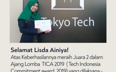 Bangga, Mahasiswa ITK Raih Juara 2 Paper Competition Tokyo-Tech Indonesia Commitment Award 2019