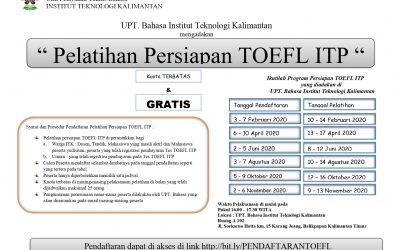PELATIHAN PERSIAPAN TOEFL ITP