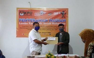 Mahasiswa ITK Raih 2 Juara Kompetisi LKTI