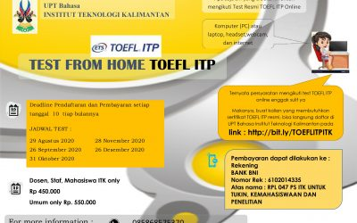 TOEFL® ITP ITK TEST FROM HOME