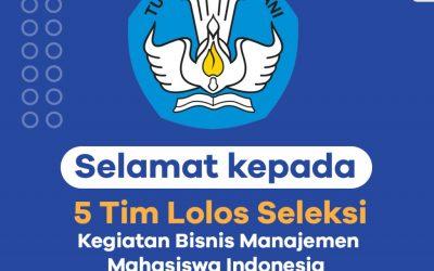 SELAMAT! LIMA TIM MAHASISWA ITK LOLOS SELEKSI KBMI 2020