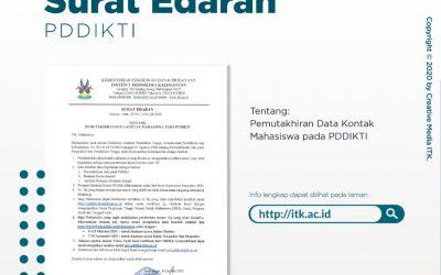 SURAT EDARAN PEMUTAKHIRAN DATA KONTAK MAHASISWA PADA PDDIKTI