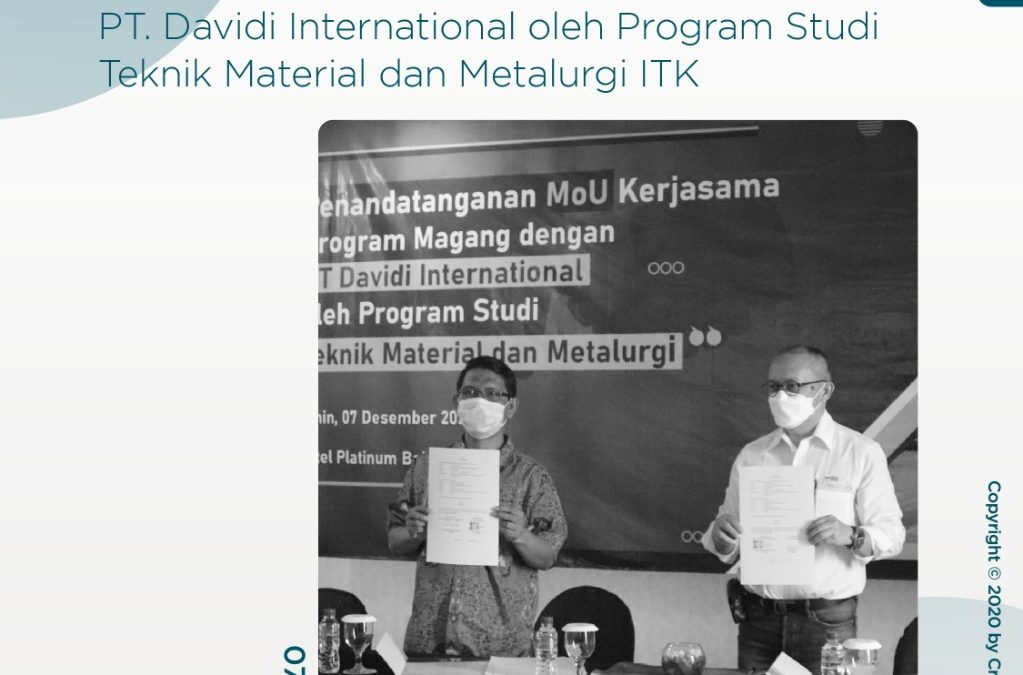 ITK dan PT. Davidi International Jalin Kerjasama Magang melalui MoU