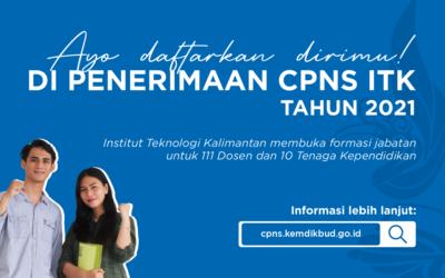 Rincian Penetapan Kebutuhan CPNS Institut Teknologi Kalimantan 2021